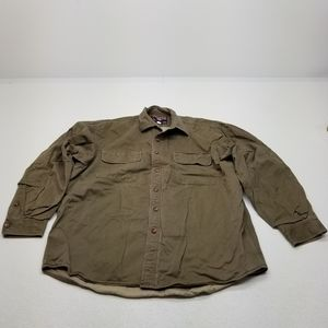 Duluth Trading Quilted Flannel Shirt Mens XL